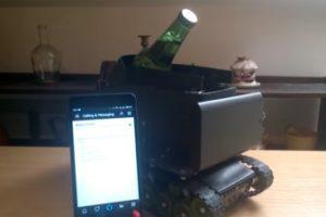 Создан робот-танк, который приносит пиво